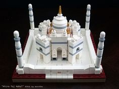 Micro Taj Mahal fits in the palm of your hand.