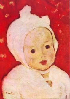 """All of God's grace in one sweet little face. ~Author Unknown (Portrait of a Child NICOLAE TONITZA c.1940 ROMANIAN) Simply Genre© God's Grace, 2nd Baby, Romania, Toddlers, Author, Portraits, Child, Illustrations, Babies"