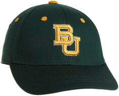 Baylor Bears Child One-Fit Hat by Top of the World. $12.88. Team color brushed cotton youth One-Fit hat. Primary 3D logo on embroidered on the front. Tagless technology for a better fit. Patented One-Fit sizing. Secondary logo flat-stitched on the back. NCAA Baylor Bears Child One-Fit Hat. Save 50%!