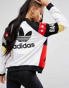 Buy it now. adidas Originals X Rita Ora Banned From Normal Bomber Jacket - White. Bomber jacket by Adidas, Designed in collaboration with Rita Ora, Part of the Banned from Normal collection, Smooth woven fabric, Breathable mesh lining, Baseball collar, Zip fastening, Functional pockets, Regular fit - true to size, Machine wash, 100% Polyester, Our model wears a UK 8/EU 36/US 4 and is 178cm/5'10 tall. ABOUT ADIDAS Founded more than 60 years ago, Adidas is one of the most iconic streetwear…