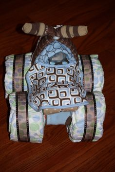 The Farmer's Wife: 4-Wheeler Diaper Cake