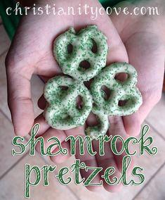 shamrock pretzels St. Patrick's Day Snack