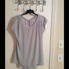 Cute gray blouse Cute blouse dress it up with A great pair of heels Tops Blouses
