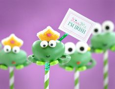 Kiss Me I'm Irish Frog Cake Pops for St. Patrick's Day
