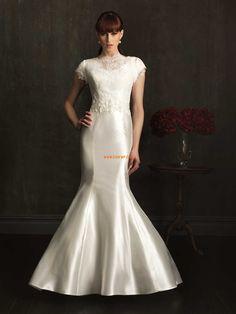 Stehkragen Satin Elegant & Luxuriös Brautkleider 2014