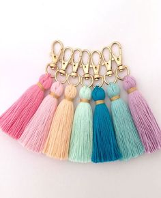 HOME-DZINE | Home and Decor Crafts - embroidery thread tassel key holder