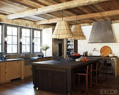 Light, windows, beams, rustic