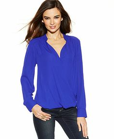 MACY'S INC International Concepts Relaxed-Fit High-Low Blouse