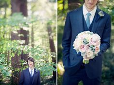 Romantic Woodland Wedding: Ingrid + Brian (from Green Wedding Shoes)  Gorgeous Bouquet