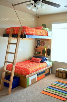 Diy Suspended Bunk Beds Bunk Beds Are A Lot Of Fun For