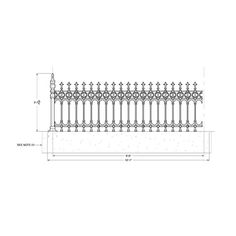 Stewart Cast Iron Fencing - Limited Stock on Full Height Railing and Half Height Railing. Victorian Fencing And Gates, Cast Iron, It Cast, Gate Post, Front Yard Landscaping, Fence, New Homes, Gardening, Landscape