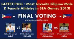 FINAL Voting : Favorite Filipino Male & Female Athletes in SEA Games 2013 | Pinoy Headline dot Com