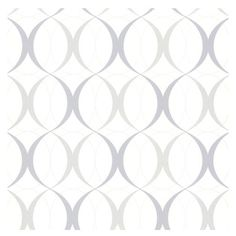 Brewster - 347-67352 Rosten Retro Orb Geometric Trellis Wallpaper - Elegant yet modern, this retro orb wallcovering brings glistening silver and grey accents to walls in a chic and contemporary design.