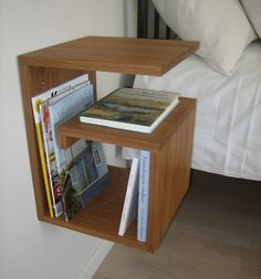 Gustav Sängbord - Bowell - Dennys Home Furniture, Home Office Decor, Diy Nightstand, Wood Furniture Design, Diy Interior, Home Decor, Homer Decor, Bedroom Decor, Home Diy
