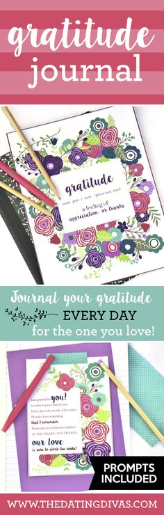 Fabulous gratitude journal to share the love for your spouse through the month!