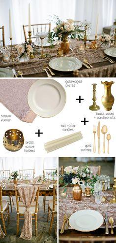 How to style a boho tablescape (boho glam) | SouthBound Bride www.southboundbride.com  Credit: Kristyn Hogan