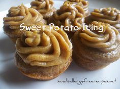 Sweet Potato Frosting (Dairy Free/ Refined Sugar Free) #SandisAllergyFreeRecipes