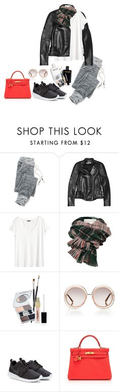 """""""#232"""" by madamenatali on Polyvore featuring maurices, Givenchy, H&M, Napoleon Perdis, Chloé, NIKE, Hermès and jogger"""