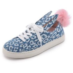 Minna Parikka Fur Tail Sneakers - Leopard Denim