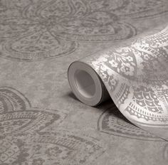 Graham & Brown Treasure Marcasite Damask Metallic Wallpaper - B&Q for all your home and garden supplies and advice on all the latest DIY trends Feature Wallpaper, Brown Wallpaper, Metallic Wallpaper, Wallpaper Decor, Hallway Inspiration, Moroccan Theme, Internal Design, Loft Room, Pretty Bedroom