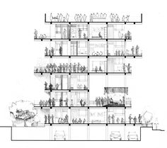 sections of multistory space - Google Search