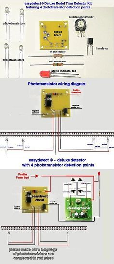 signals 180293: deluxe s scale 4 point model train detector kit for  crossing flasher activation