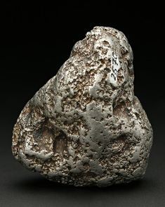 A large metallic silver coloured specimen of alluvial Native Platinum very seldom seen in this size from Russia. Minerals And Gemstones, Crystals Minerals, Rocks And Minerals, Crystals And Gemstones, Stones And Crystals, How To Polish Rocks, Iron Meteorite, Gold Prospecting, Platinum Metal