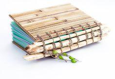 Bamboo Sketchbook beaver chewed tree by MindAndHandsTogether, $41.00