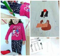 Kids science experiment My body -  anatomy activity doctor - Preschool Kids