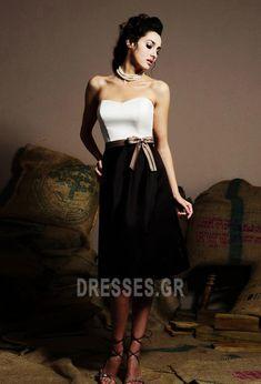 Τόξο Σατέν Στράπλες σύγχρονος Φυσικό Μαύρο Παράνυμφος φορέματα - Σελίδα 1 b57d60623a7