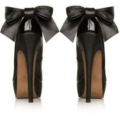Chanel bow pumps.