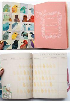 Avian Friends Pocket Planner by Galison | Artwork by Geninne Zlatkis | Fox and Star