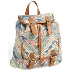 Amici Accessories Canvas & Crochet Backpack (Juniors) (Online Only)... ($19) ❤ liked on Polyvore