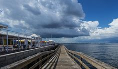 Fishing Pier at the #StPete Pier and Storm Clouds over #TampaBay