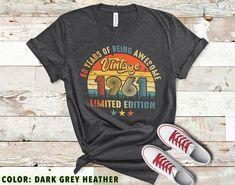 Retro Music Shirt Vintage 1961 Shirt Personalized 60th Birthday Shirt 1961 Birthday Limited Shirt April 1961 Birthday Shirt