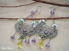 Wire Wrapped Jewelry Tutorial Filigree Woven Earrings by EmiKaz