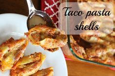 Taco pasta shells. Jumbo pasta shells stuffed with taco meat and cheese. Then covered with a salsa/tomato sauce. Then covered with more cheese (of course!). Huge hit with teens!