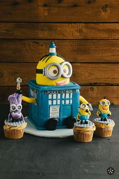 The Minions have the phone box! 2 of my favorite things :)