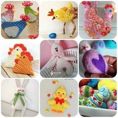 Tante creazioni per la Pasqua in stoffa, uncinetto e feltro con tutorial e cartamodelli gratis