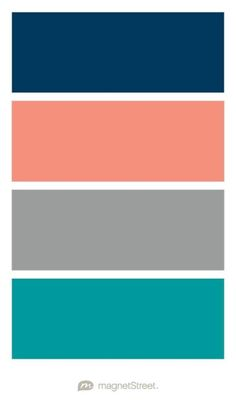Navy, Coral, Custom Gray, and Teal Wedding Color Palette - custom color palette created at MagnetStreet.com Family Photography Colors, Family Photo Colors, Family Picture Outfits, Christmas Pictures To Color, Christmas Pictures Outfits, Christmas Pics, Christmas 2019, Green And Burgundy Wedding, Orange Wedding Colors