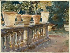 Villa di Marlia, Lucca: The Balustrade. 1910 John Singer Sargent