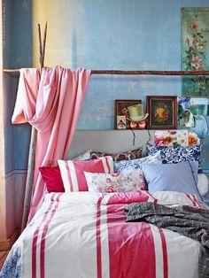 stripes w/ brighter, boho/preppy pillows? favorite of all