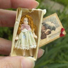 Porcelain Doll Toy #2 in Vintage Style Box Germany European Dollhouse Miniature   eBay