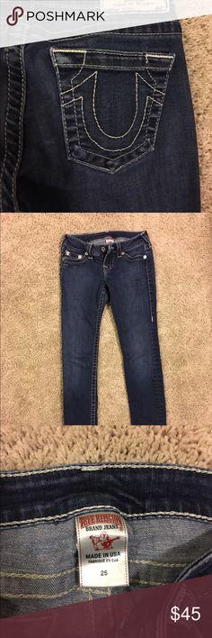 True religion women's jeans Barely worn, originally from Nordstrom. Straight legged size 25. True Religion Jeans Straight Leg