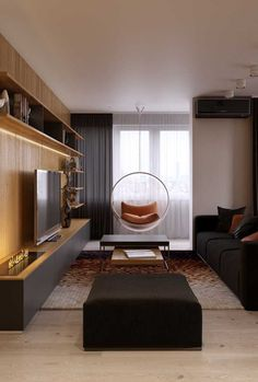 """Check out this project: """"Family apartment in Samara""""… Modern White Living Room, Modern Room, Family Apartment, Home Room Design, Home Living Room, Decoration, Room Decor, Interior Design, New Homes"""