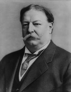 William Howard Taft…   Sporting an awesome 19th century mustache. Every fat guy's ideal President. After a century of bald-faced liars, Ole Bill looks better and better.
