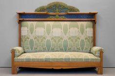Art Nouveau Sofa by Iberto Issel, Genova 1902