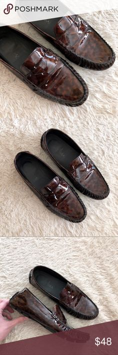 COLE HAAN Tortoise Shell Penny Loafers Nike Air Tortoise shell loafers in excellent condition. Nike Air technology. Very minor wear. ✨OFFERS WELCOME✨ Cole Haan Shoes Flats & Loafers