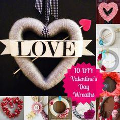 10 DIY Valentine's Day Wreaths