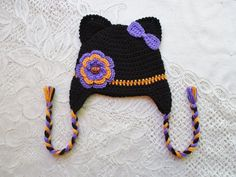 READY TO SHIP  6 to 12 Month Size  Black Purple and Orange